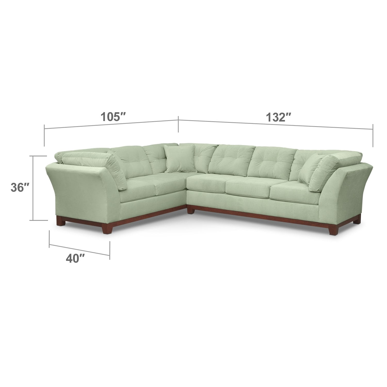 Living Room Furniture - Brookside II Spa 2 Pc. Sectional
