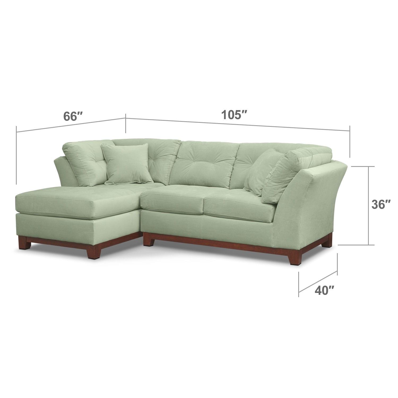 Living Room Furniture - Brookside II Spa 2 Pc. Sectional (Alternate)