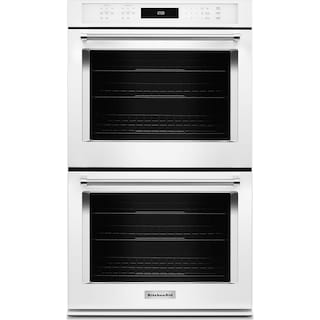 "KitchenAid 27"" Double Wall Oven with Even-Heat™ True Convection - White"