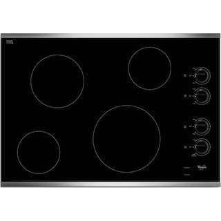 """Whirlpool 30"""" Electric Cooktop – W5CE3024XS"""