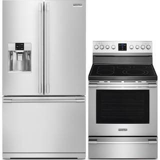 Frigidaire 27.8 Cu. Ft. Refrigerator and Convection Range - Stainless Steel