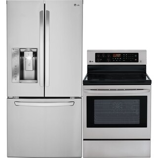 LG 24.2 Cu. Ft. French Door Refrigerator and 6.3 Cu. Ft. Electric Range