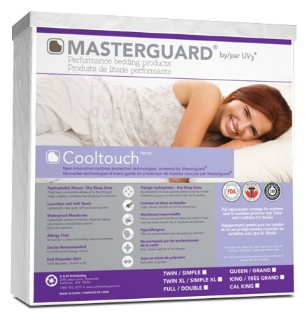 Mattresses and Bedding - Masterguard® CoolTouch™ Twin Mattress Pad