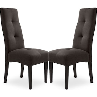 Abbotsly Chairs - Grey (Set of 2)