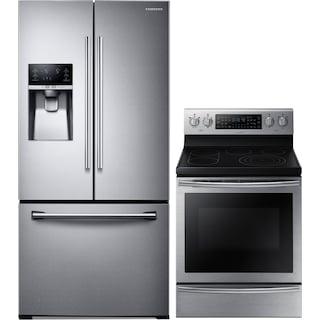 Samsung 25.5 Cu. Ft. Refrigerator and 5.9 Cu. Ft. Electric Range