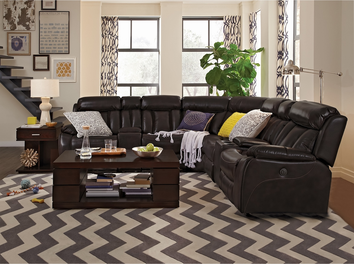 Living Room Furniture - The Remington Collection - 7 Pc. Power Reclining Sectional