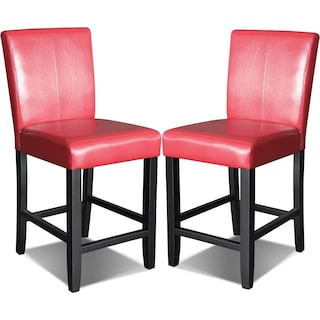 Wigan Red Counter-Height Chairs  (Set of 2)