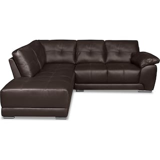 Rothwell 2-Piece Left-Facing Chaise Sectional - Brown