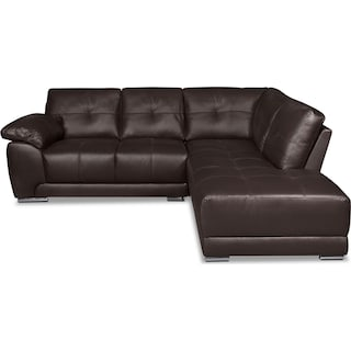 Rothwell 2-Piece Right-Facing Chaise Sectional - Brown