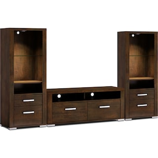 "Belfield 3-Piece Entertainment Centre with 56"" TV Opening and Open Piers - Java"