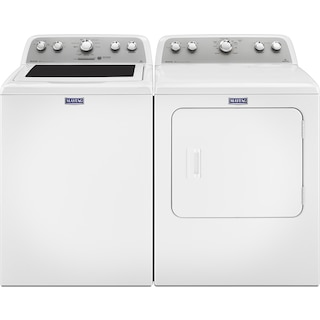 Maytag Bravos® 5.0 Cu. Ft. Top-Load Washer and 7.0 Cu. Ft. Electric Dryer - White
