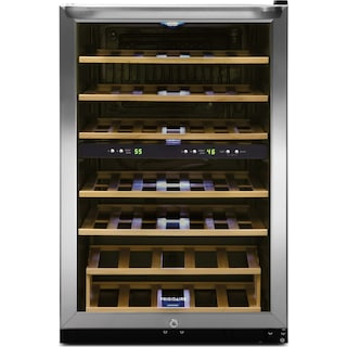 Frigidaire Stainless Steel 38-Bottle, Two-Zone Wine Cooler - FFWC38C2QS