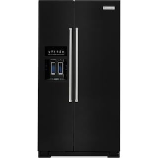 KitchenAid 24.8 Cu. Ft. Standard Depth Side-by-Side Refrigerator – Black