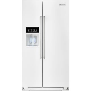 KitchenAid 24.8 Cu. Ft. Standard Depth Side-by-Side Refrigerator – White