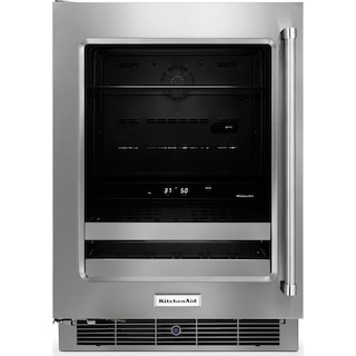 KitchenAid 4.8 Cu. Ft. Beverage Centre with Left-Door Swing – Stainless Steel