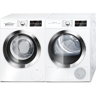 Bosch 800 Series 2.2 Cu. Ft. Compact Washer and 4.0 Cu. Ft. Condensation Dryer - White