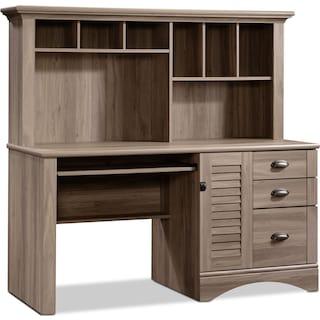 Dawley Desk and Hutch - Salt Oak