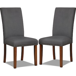 Gomel Side Chairs, Set of 2 – Charcoal