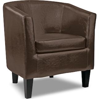 Rathmore Accent Club Chair – Dark Brown