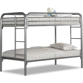 Kidsgrove Silver Bunk Bed Twin Bunk Bed