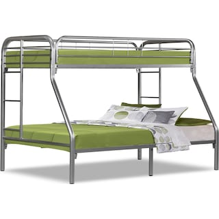 Kidsgrove Silver Bunk Bed Twin/Full Bunk Bed