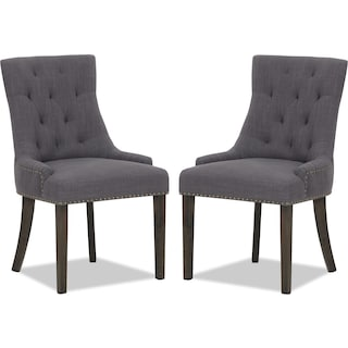 Brierfield Grey 2-Pack Wing Chairs