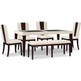 Tadley 6-Piece Dining Package with Bench