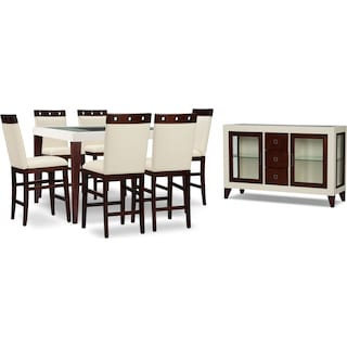 Tadley Counter-Height 8-Piece Counter-Height Dining Package