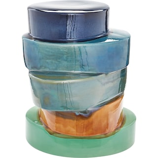 Stacked Ovals Side Table - Multi Ombre