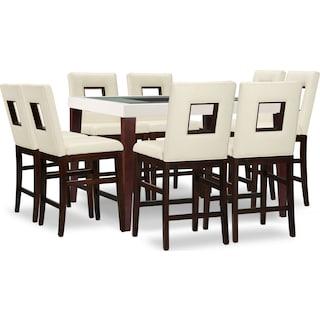 Slough Counter-Height 9-Piece Counter-Height Dining Package