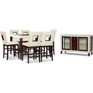 Slough Counter-Height 8-Piece Counter-Height Dining Package