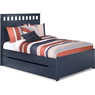 Leo Full Panel Bed with Trundle