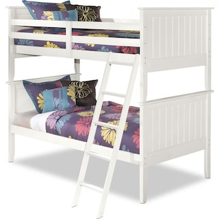 Casla White Bunk Bed