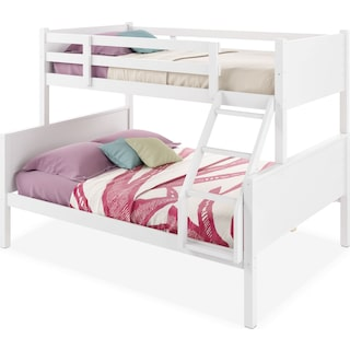 Poole Twin/Full Bunk Bed with Panel Headboards – White