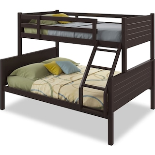 Poole Twin/Full Bunk Bed with Panel Headboards – Dark Cappuccino