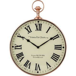 Polished Copper Wall Clock