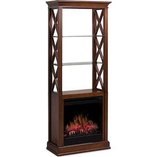 Crowland Display Cabinet with Fireplace