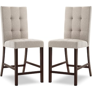 Wivenhoe Counter-Height Dining Chair – Platinum (Set of 2)