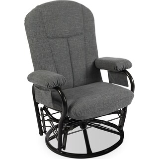 Santee Glider Swivel Reclining Chair – Grey