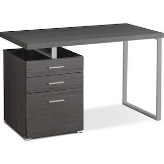 Hemet Computer Desk – Glossy Grey