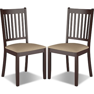 Breda Dining Chair with Microfibre Seat, Set of 2 – Beige