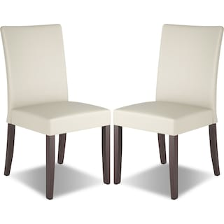 Breda Faux Leather Dining Chair, Set of 2 – Cream