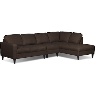 Atherton 3-Piece Right-Facing Sectional – Chocolate
