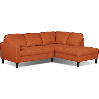 Atherton 2-Piece Right-Facing Sectional – Tangerine