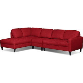 Atherton 3pc. Left-Facing Sectional – Cherry