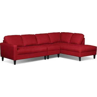 Atherton 3pc. Right-Facing Sectional – Cherry
