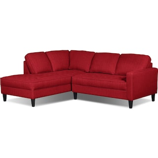 Atherton Left-Facing Sectional – Cherry