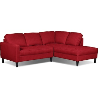 Atherton Right-Facing Sectional – Cherry