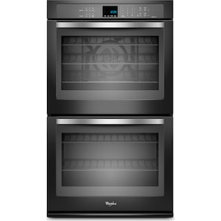 Whirlpool Gold® 10 Cu. Ft. Double Wall Oven – Black Pearl WOD93EC0AE