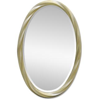 Twisted Oval Mirror
